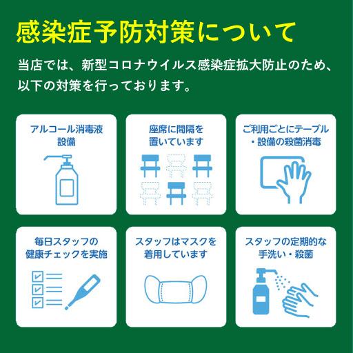当店の新型コロナウイルス(COVID-19)対策